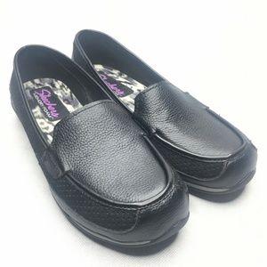 Skechers Memory Foam Leather Comfort Loafers Black